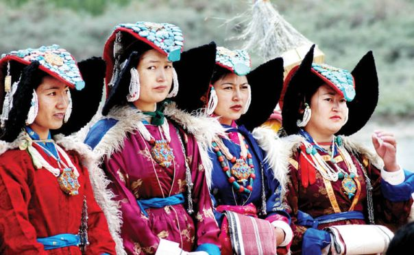 Ladakhi women leh dance